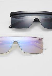 Urban Classics - SUNGLASSES RHODOS 2 PACK - Sunglasses - black and white/multicoloured - 2