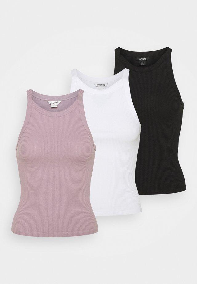 3 PACK - Top - white light/lilac/black