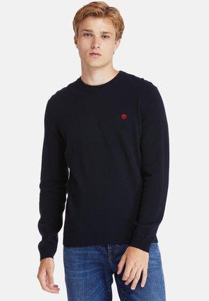 COHAS BROOK MERINO CREW - Sweatshirt - dark sapphire
