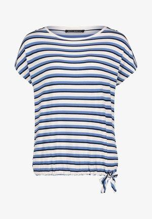 MIT TUNNELZUG - Blouse - white blue