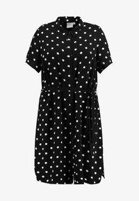 JUNAROSE - by VERO MODA - JRTRACY KNEE DRESS - Sukienka koszulowa - black/white - 3