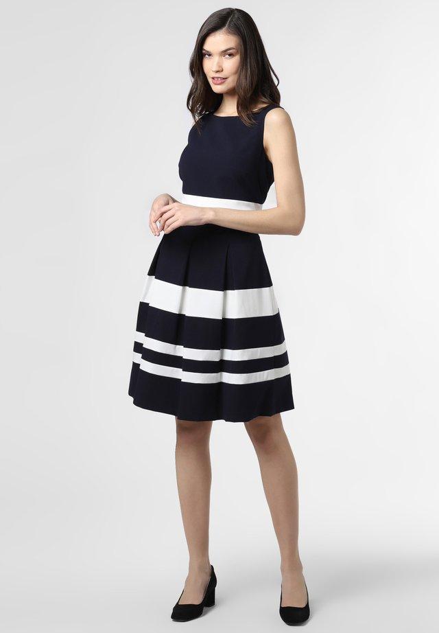 Jersey dress - marine weiß