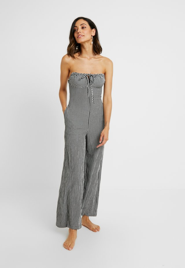 STRAPLESS JUMPSUIT - Beach accessory - black