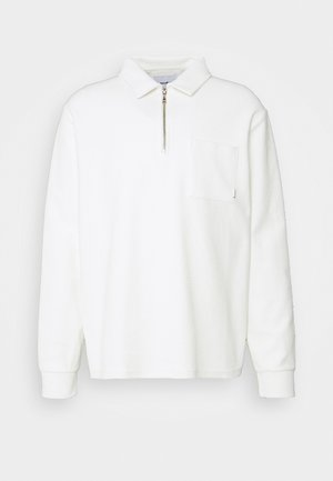 ALTER TOWEL ZIP POLO - Sweatshirt - sand