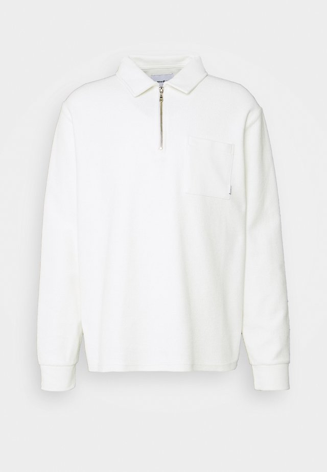 ALTER TOWEL ZIP POLO - Sweater - sand
