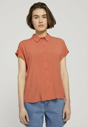 Button-down blouse - sundown coral
