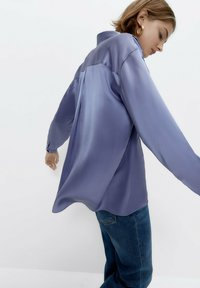 Uterqüe - Button-down blouse - light blue - 5