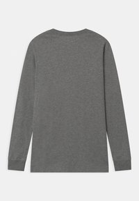 Nike Sportswear - FUTURA UNISEX - Long sleeved top - dark grey heather/white - 1