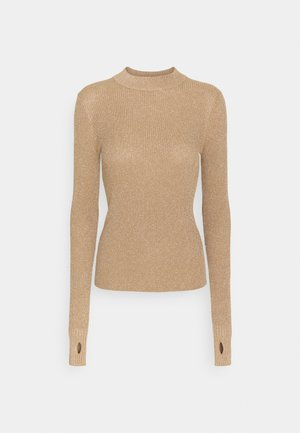 SLOK - Strickpullover - light pastel brown