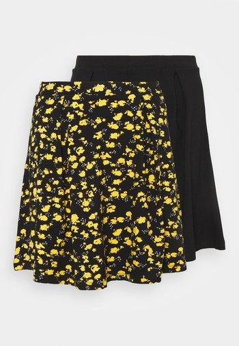 2 PACK - Minifalda - black/multi-coloured