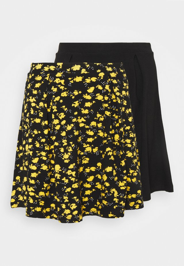 2 PACK - Mini skirt - black/multi-coloured