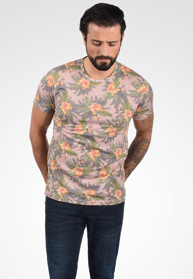 FAIK - Print T-shirt - mahog. rose