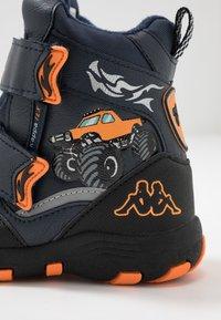 Kappa - BIG WHEEL TEX - Winter boots - navy/orange - 5