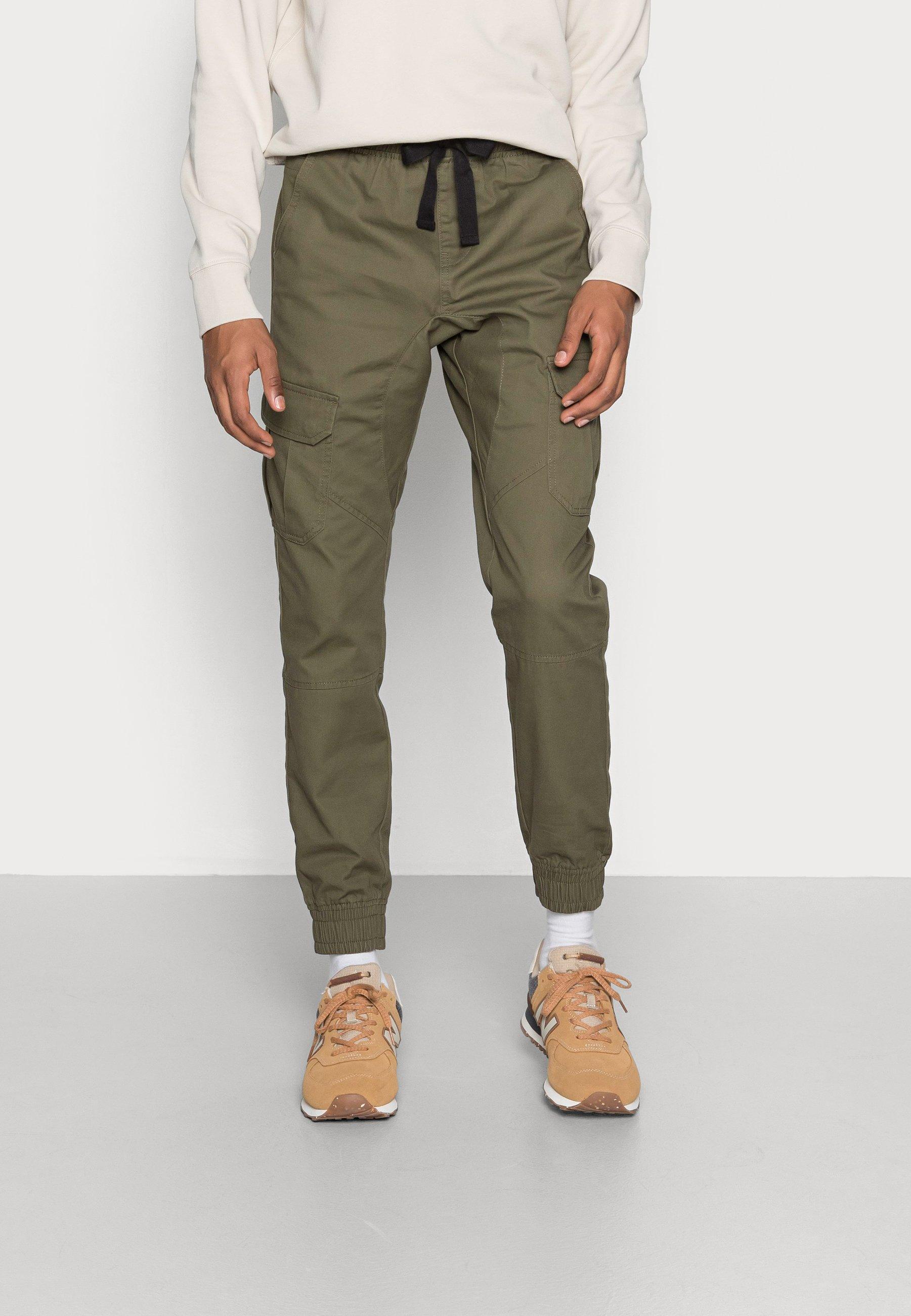 Men TWILL CARGO TROUSER WITH CUFFED HEM - Cargo trousers