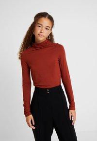 New Look Petite - ROLL NECK 2 PACK - Long sleeved top - black/chocolate - 2