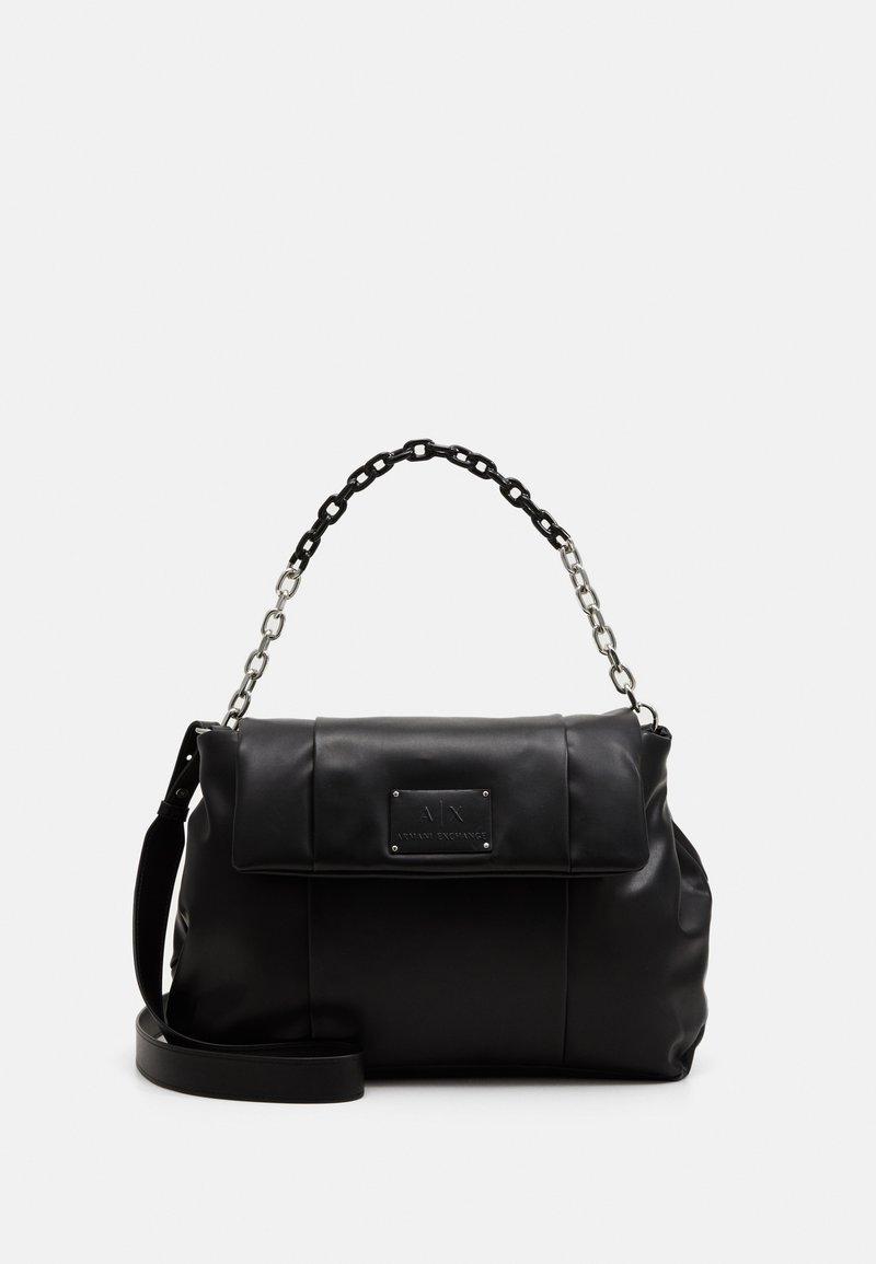 Armani Exchange - BIG FLAP SHOULDER - Handbag - nero