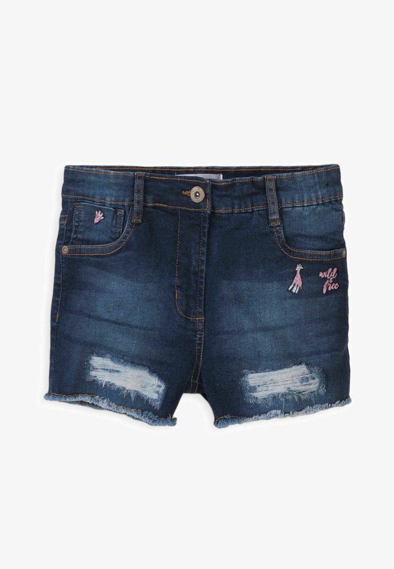 MINOTI - Denim shorts - blue denim
