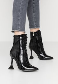 BEBO - KEONA - High heeled ankle boots - black - 0