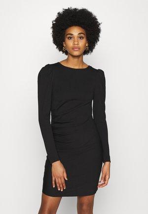 YASCANE PUFF DRESS - Pouzdrové šaty - black