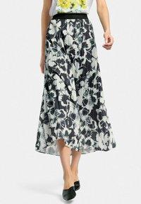 MARGITTES - Pleated skirt - schwarz/weiß - 0