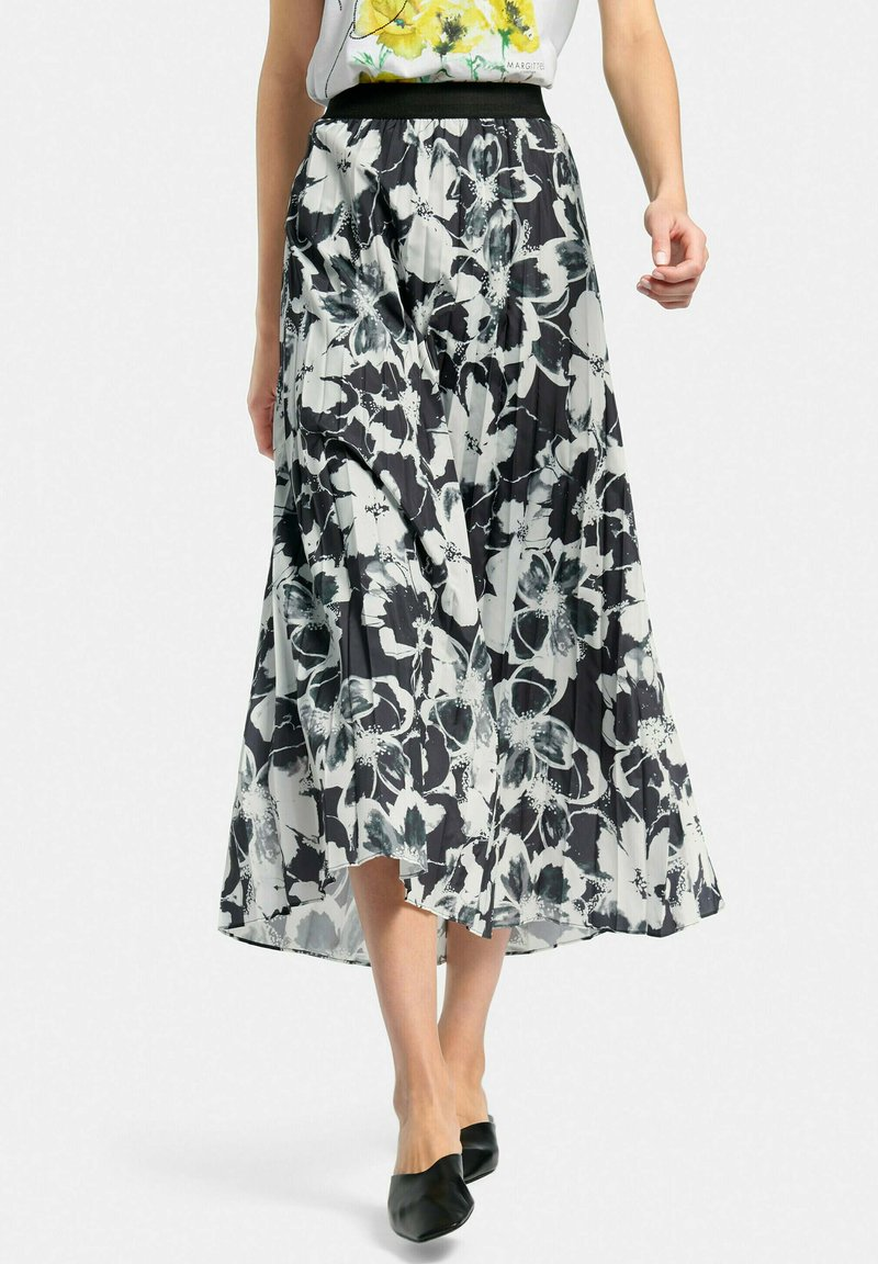 MARGITTES - Pleated skirt - schwarz/weiß