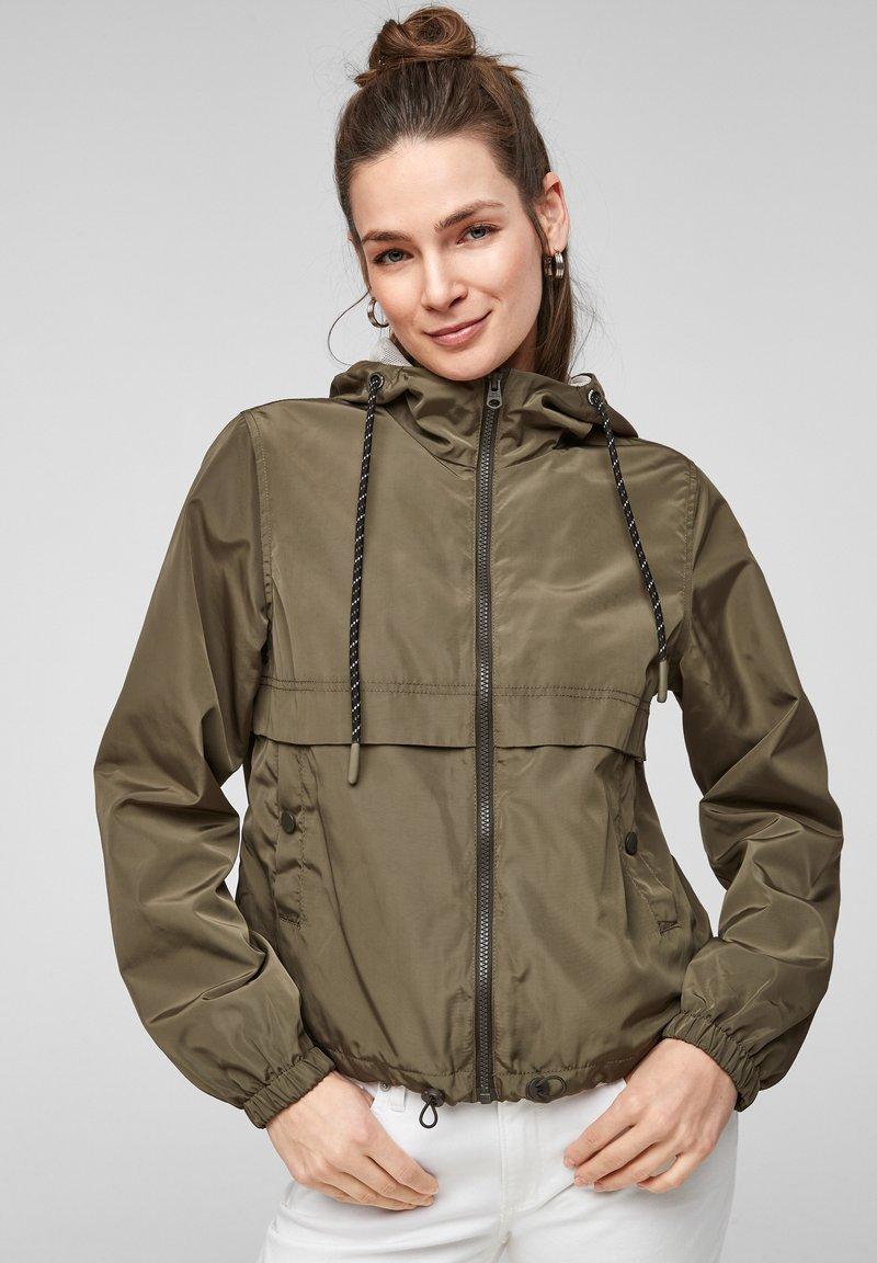 Q/S designed by - Summer jacket - olive