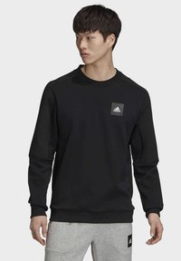 adidas Performance - MUST HAVES CREW SWEATSHIRT - Sweatshirt - black - 0