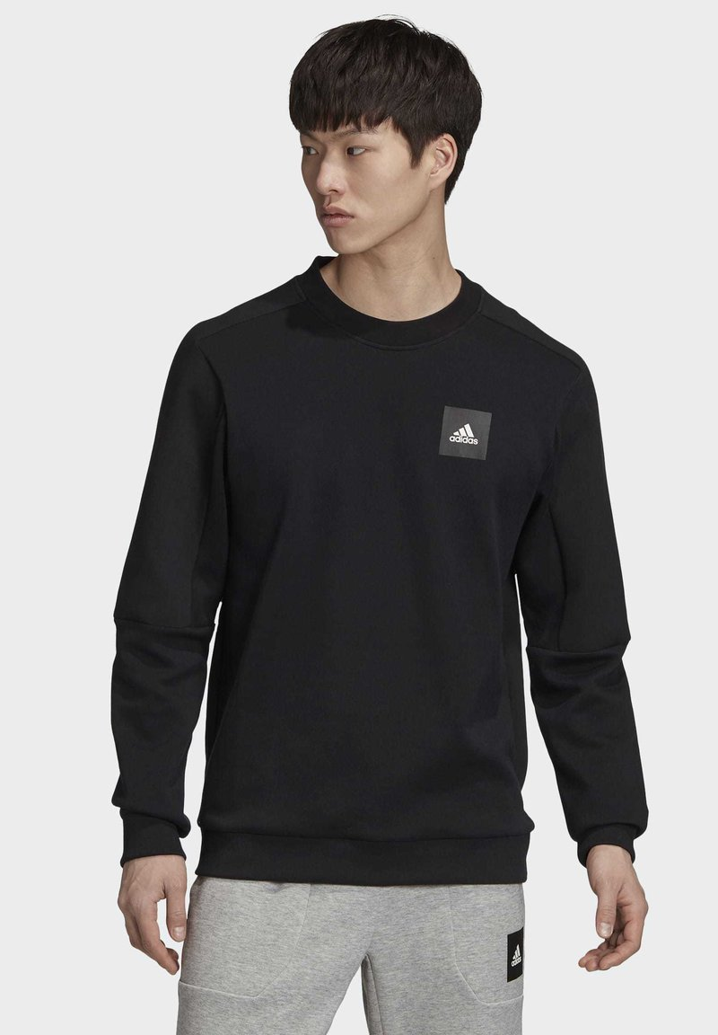 adidas Performance - MUST HAVES CREW SWEATSHIRT - Sweatshirt - black
