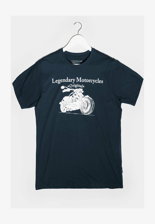LEGENDARY MOTORCYCLES GRAPHIC - Print T-shirt - blue
