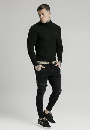 LONG SLEEVE BRUSHED TURTLE NECK - Jersey de punto - black
