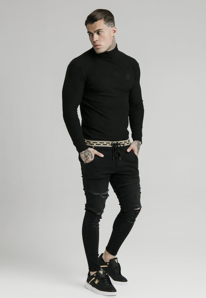 SIKSILK - LONG SLEEVE BRUSHED TURTLE NECK - Trui - black