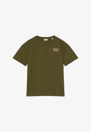 Print T-shirt - burnished logs