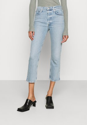 RILEY CROP - Straight leg jeans - shiver
