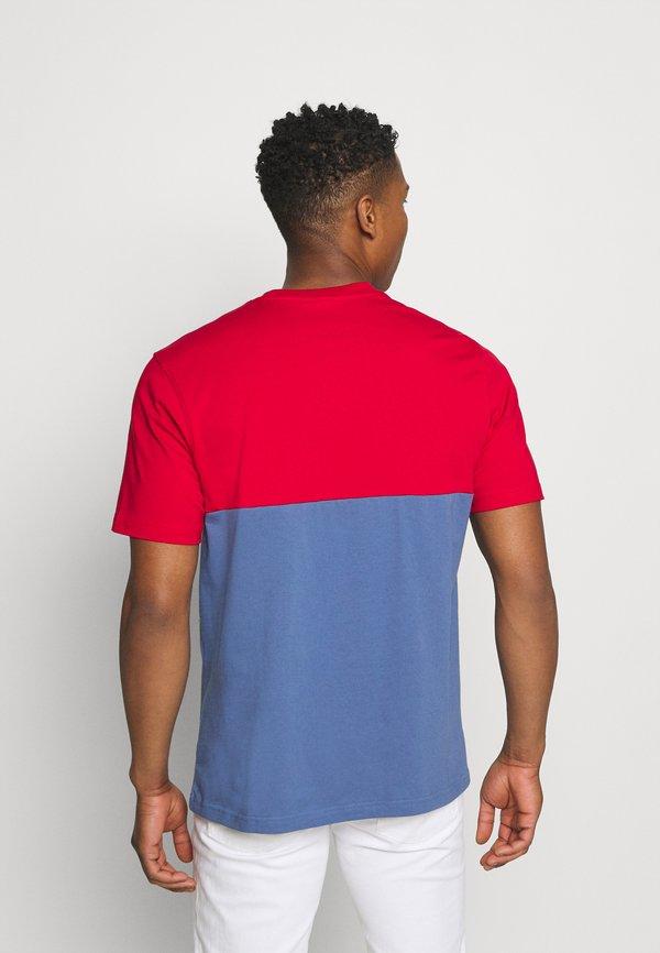 adidas Originals SLICE BOX - T-shirt z nadrukiem - crew blue/scarlet/niebieski Odzież Męska TJKY