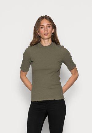 SLFANNA CREW NECK TEE - Basic T-shirt - kalamata