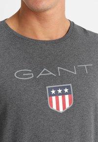 GANT - SHIELD - Long sleeved top - dark grey melange - 4