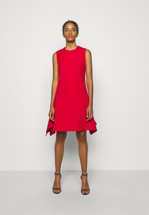 DRAWSTRING BACK FLOUNCE LIGHTWEIGHT STRETCH DRESS - Sukienka letnia - postbox red