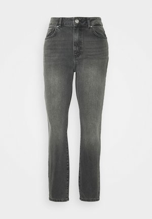 NMISABEL ANKLE MOM - Jeans Straight Leg - dark grey denim