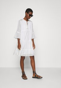 Esqualo - DRESS PLUMETIS - Shirt dress - off white - 1
