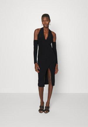 HALTER NECK MIDI DRESS - Sukienka z dżerseju - black
