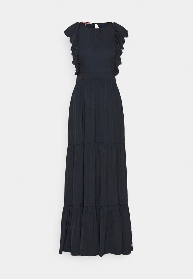 DRAPEY DRESS WITH SCALLOPED EDGE DETAILS - Maxi dress - night