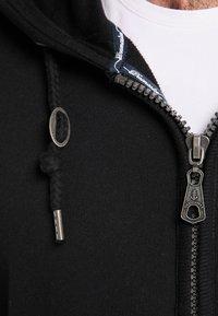 DreiMaster - Mikina na zip - black - 3