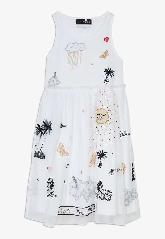 TUXTLA - Jersey dress - blanco