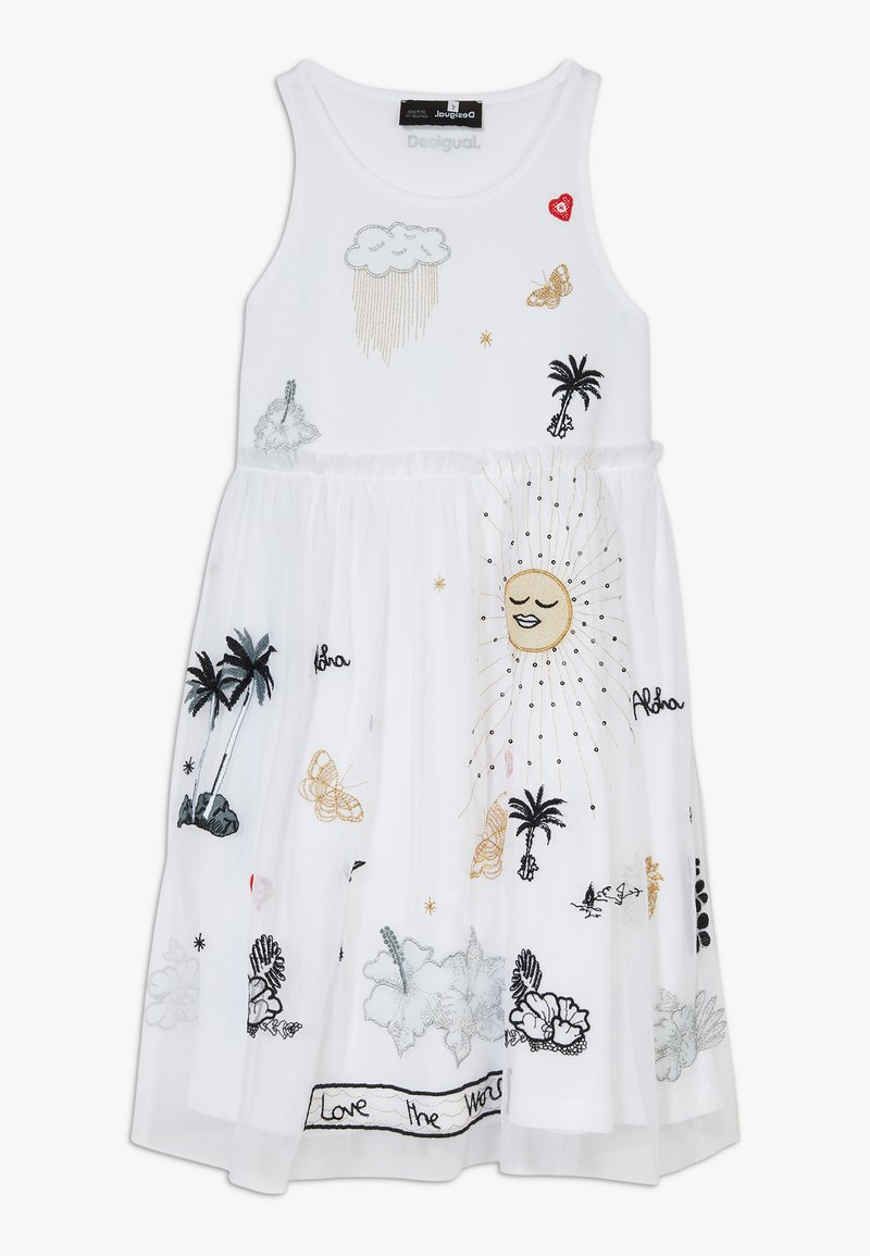 Desigual - TUXTLA - Sukienka z dżerseju - blanco