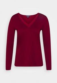 Maglietta a manica lunga - bordeaux red