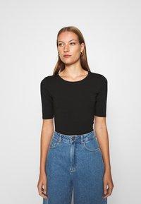 Lindex - VIRA - Basic T-shirt - black - 0