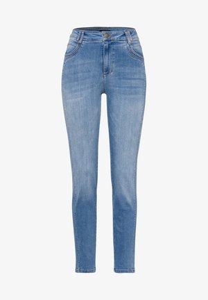HIGH WAIST - Slim fit jeans - blue denim