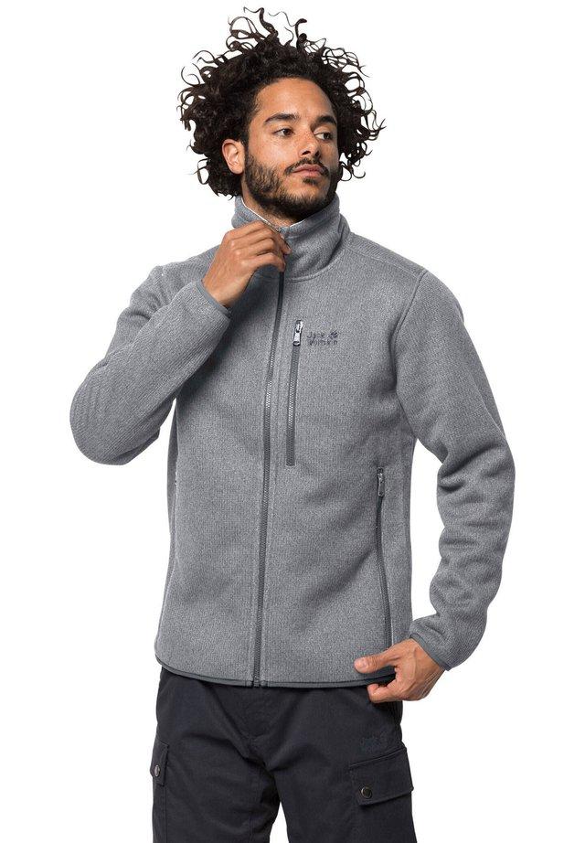 ROBSON FJORD - Fleece jacket - hellgrau mel