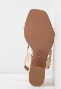 Topshop Wide Fit - WIDE FIT SABRINA BLOCK HEEL - Sandals - gold - 6
