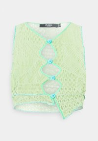 Jaded London - ENGINEERED WITH BUTTON DETAIL - Linne - yellow/ green/ blue - 4